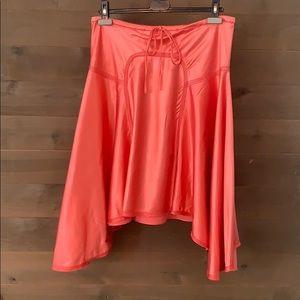 Max Studio Bright Pink Silk and Cotton Skirt